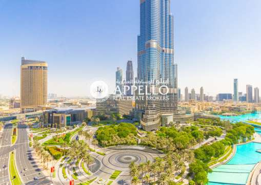 Burj and Fountain View | available 1 Bed